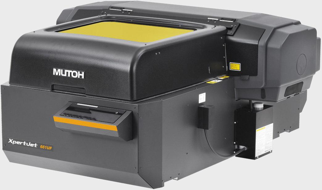 Angle view of a Mutoh XPJ-661UF UV printer