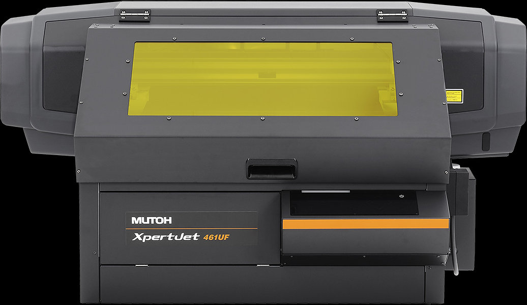 Front view of a Mutoh XPJ-461UF UV printer