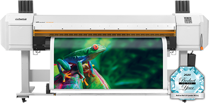 Mutoh VJ-1638UR UV printer with product of the year award