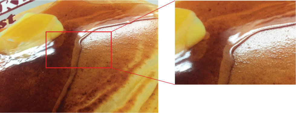 Pancake print with closs and matte varnish