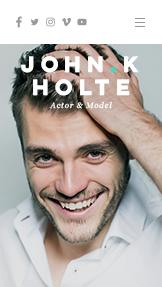 CV de actor y modelo