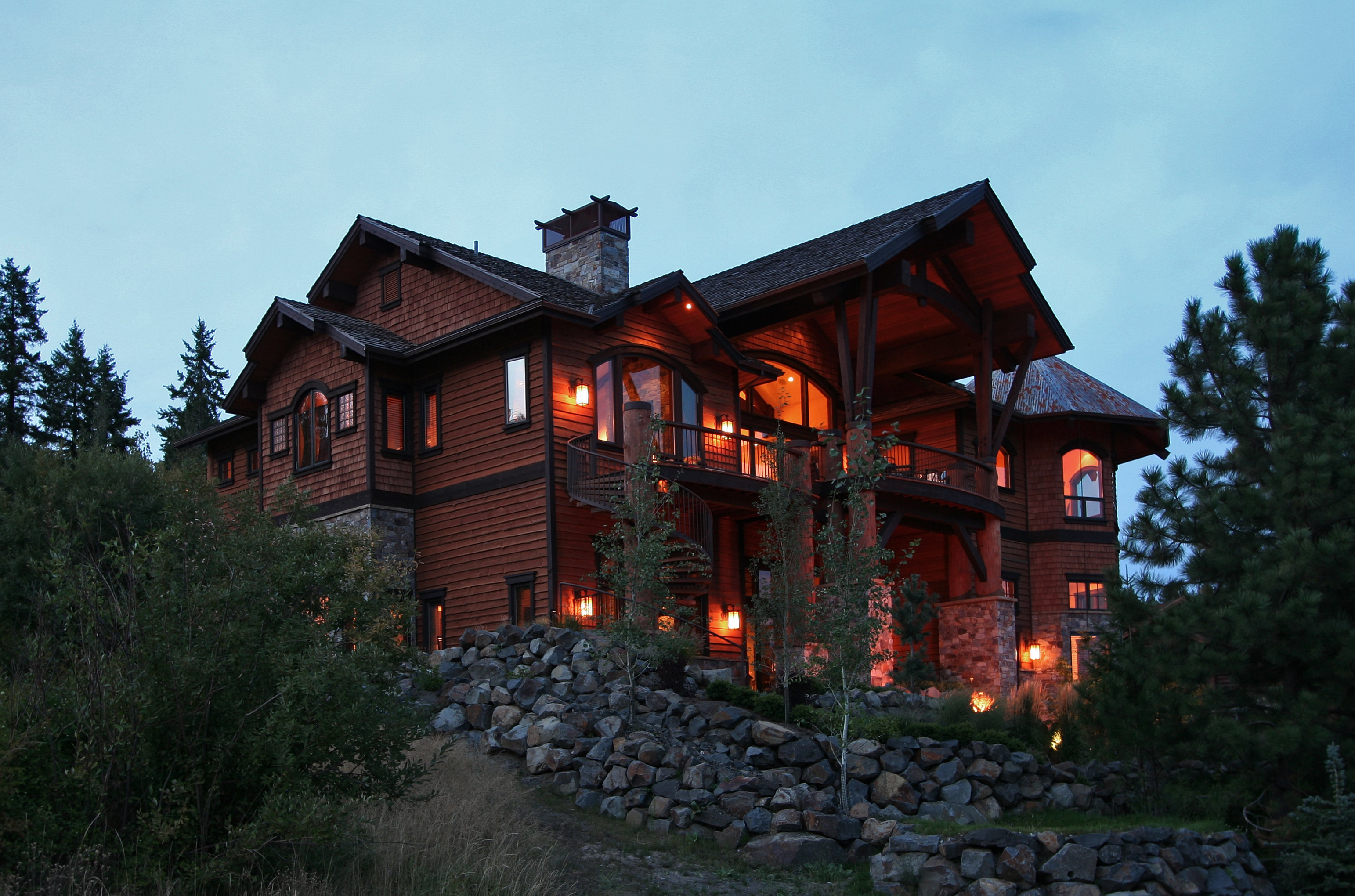 Black rock homes north idaho for Cost to build a house in little rock
