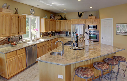 Large Open Concept Kitchen