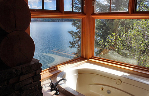 CDA Lake Views from Master Bath