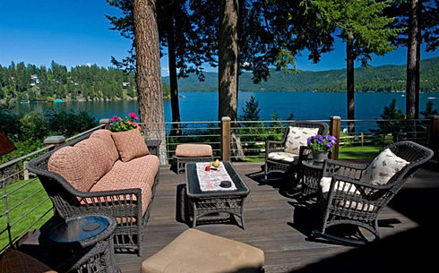 Large Deck with Hayden Lake Views