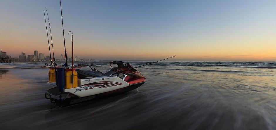 Shoreline jet skis for Jetski fishing rack