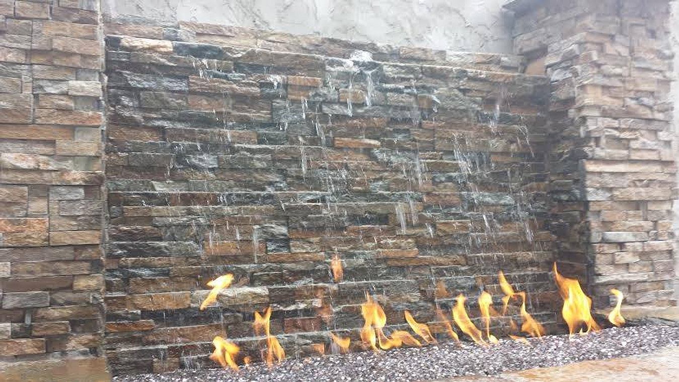Water features and fountains kansas city for How to build a water feature wall