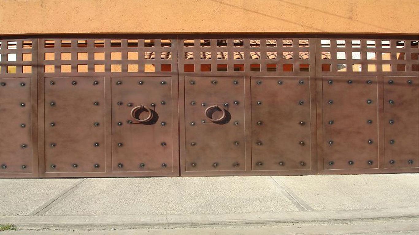 Puertas autom ticas intesmex m xico d f cotiza for Portones madera rusticos