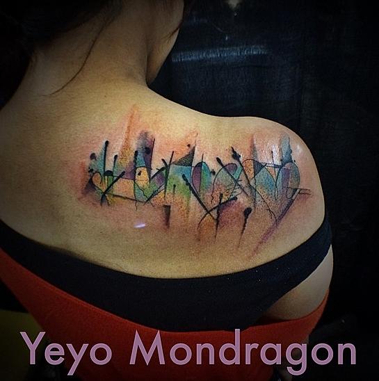 Yeyo mondragon watercolor tattoo artist in denver colorado for Best tattoo shops in denver co