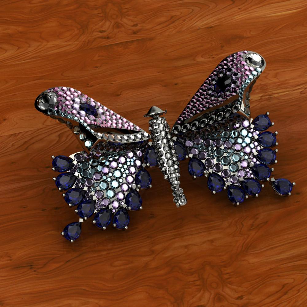 Precious stone butterfly