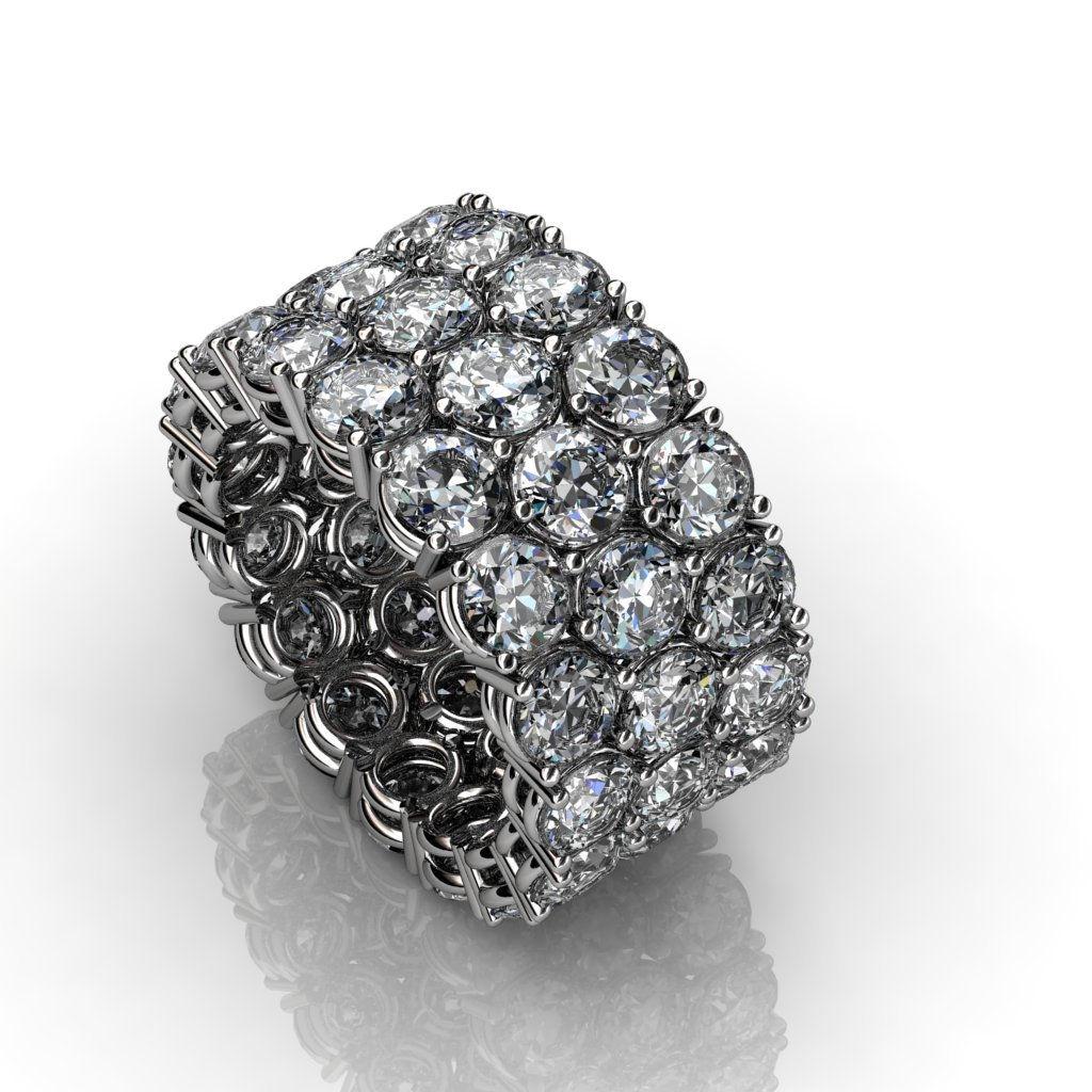 3 layered diamond ring