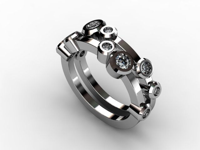 Multi diamond and platinum