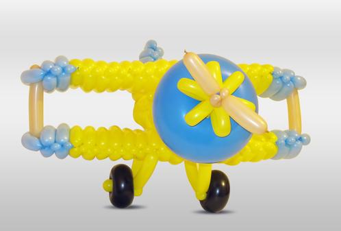 Как сделать самолет из шарика