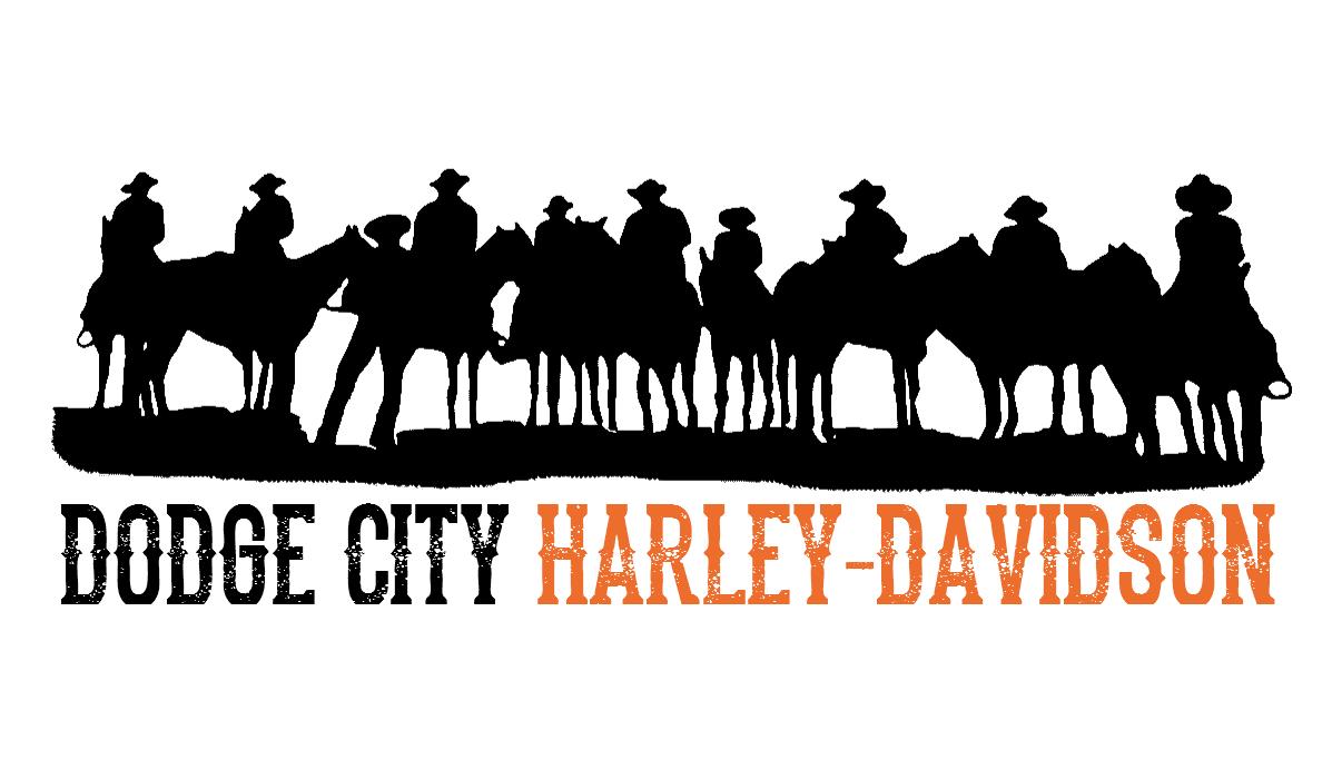 Logo Dodge City Harley Davidson Kg Design Graphic Design