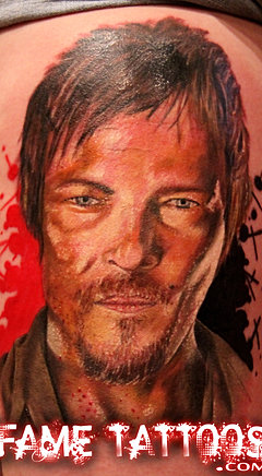 Norman reedus daryl dixon tattoo for Tattoo shops in norman
