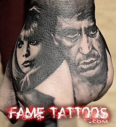 Scarface tattoo fame tattoo for Tattoo shops in buford ga