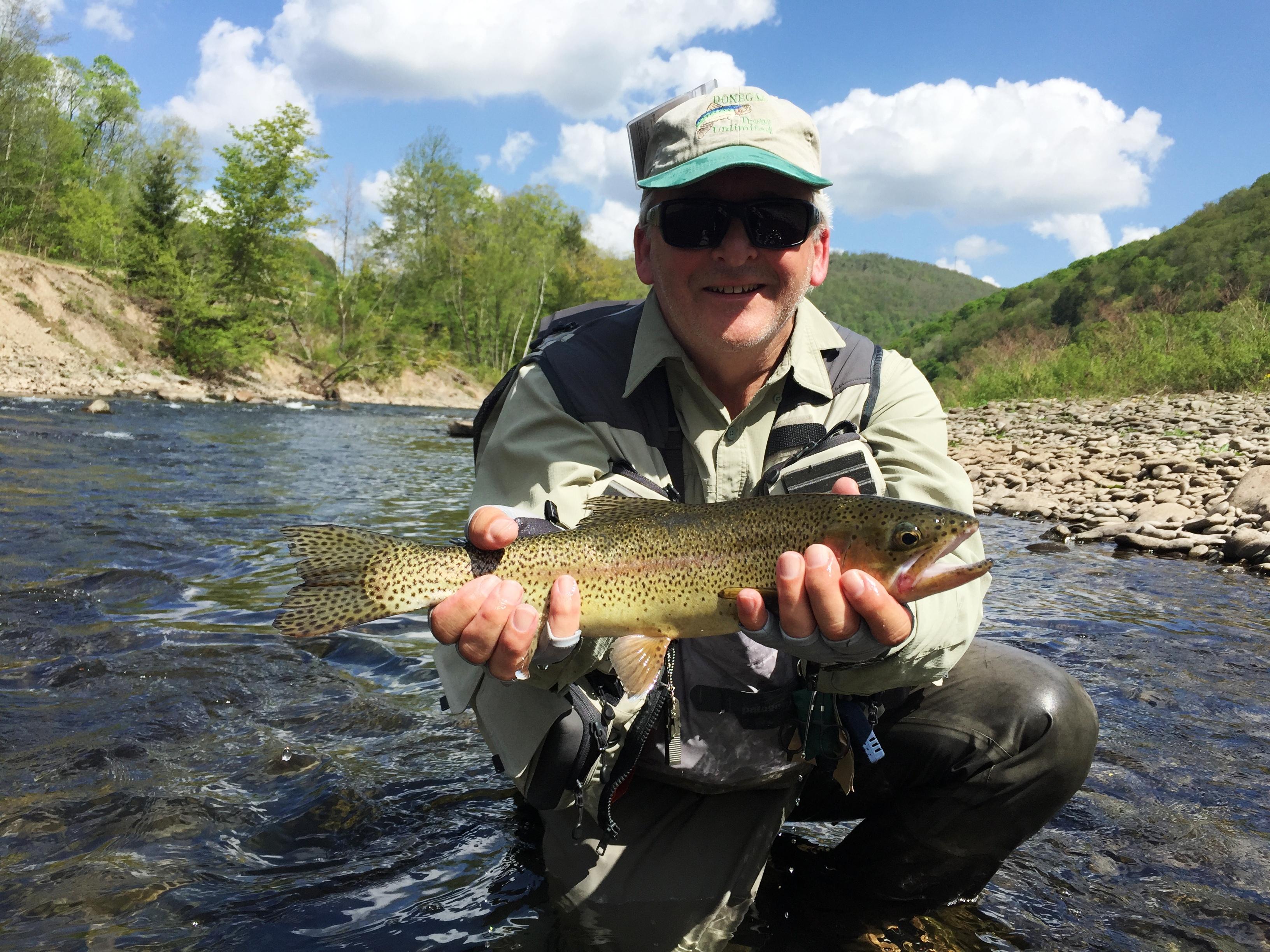Upper delaware fly fishing report ken tutalo 39 s baxter for Fishing report delaware