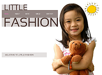 Kids Fashion Template - Create your own stunning free Website with this simple-to-use Flash template. Designed with your unique business needs in mind, this Modern template is the perfect stage to show off and sell your works and art.