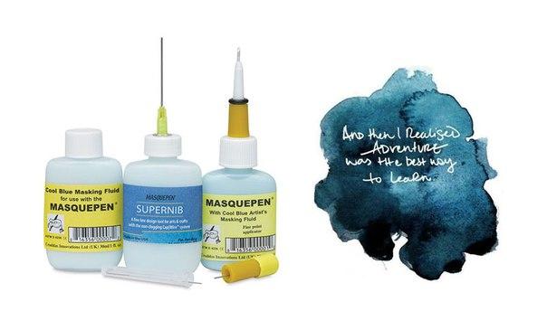 Маскировочная жидкость для акварели своими руками