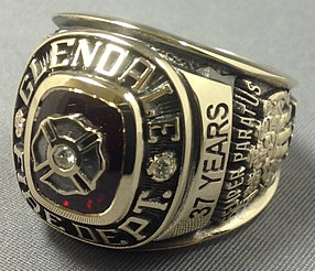 Gold Fire Chief Ring