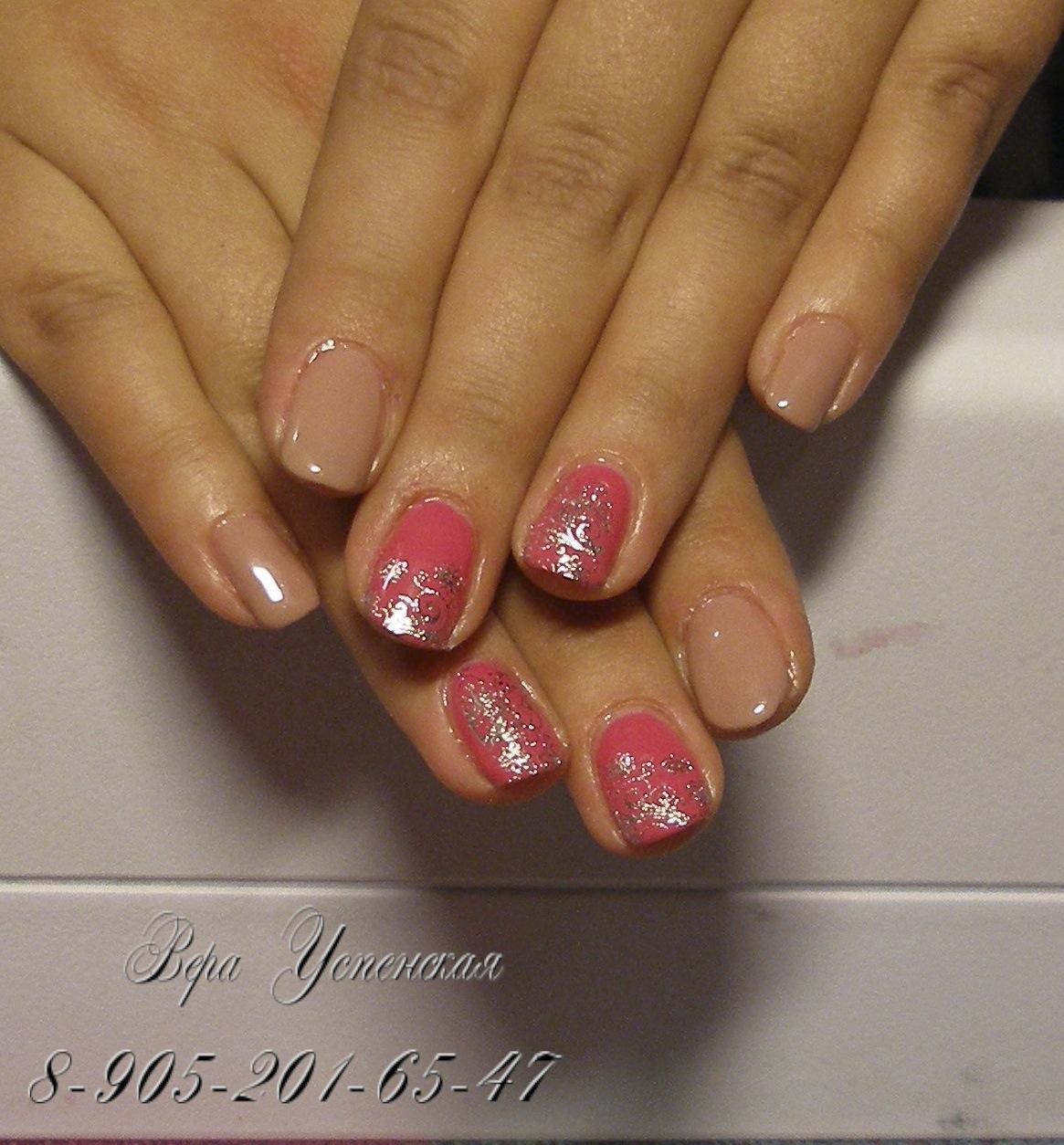 Дизайн ногтей фото шилак короткие ногти
