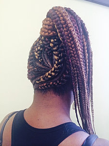 Cornrows with extension sunu hair