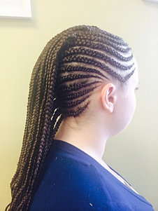 Cornrows with extension