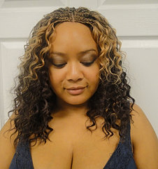 Sew-in with Cornrows