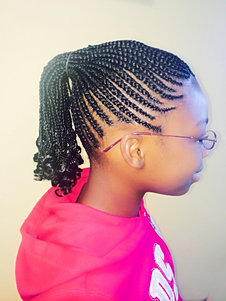 Kids Hair braiding Style