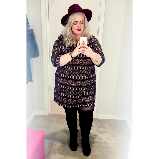 what i wore: plus size thigh high boots | amandaapparel | a plus