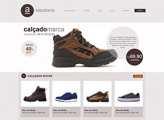 Loja de Sapatos Template - Template minimalista que garantirá destaque a seus produtos no varejo. Conte a história da sua marca, crie uma galeria de fotos dos itens à venda e direcione os clientes para seus revendedores. Comece hoje mesmo e alcance novos clientes!