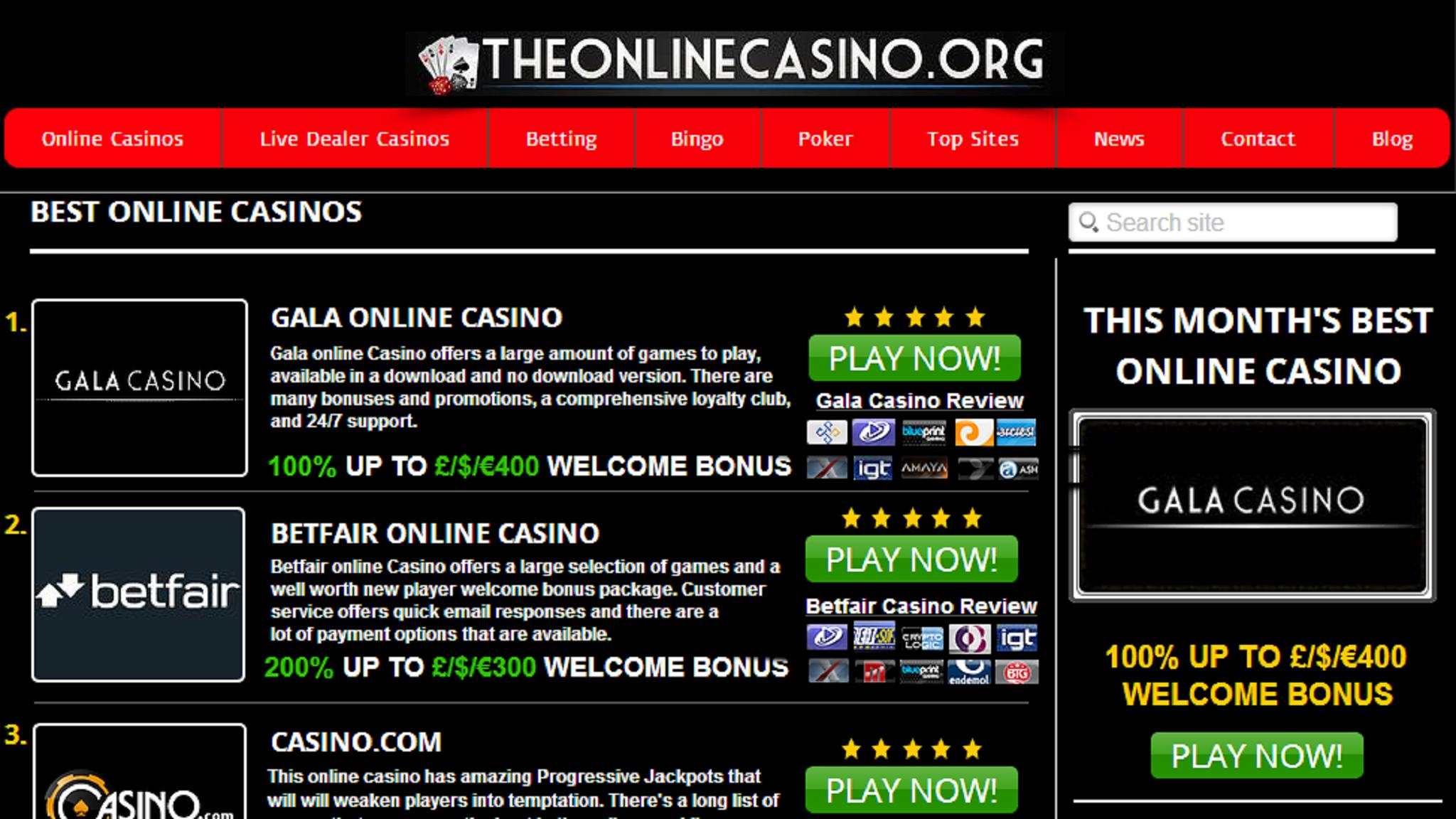 топ 10 онлайн казино