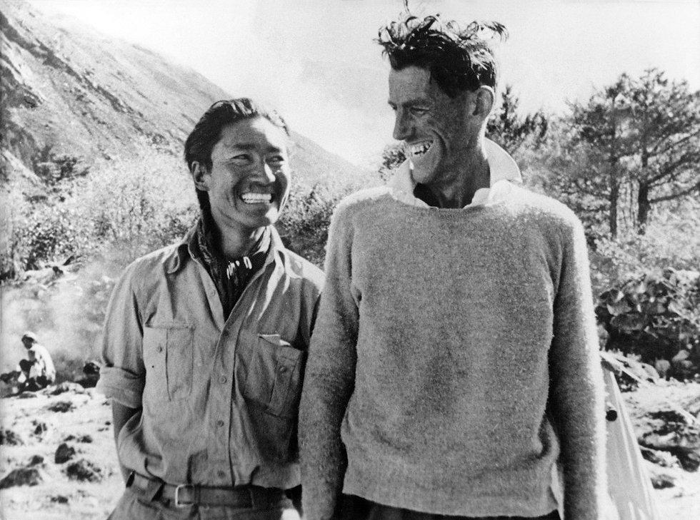 Sherpa Tensing mit Sir Hillary Keystone_
