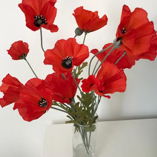 Artificial wildflower garden flower arrangements and flowers poppy in a cylinder vase mightylinksfo