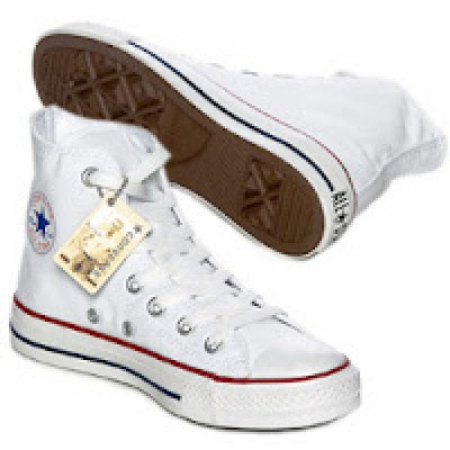 converse blanche montant