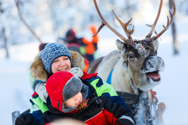 finland, kerst, sneeuwvakantie, slee