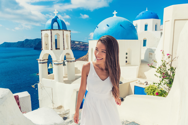 santorini, griekenland, global