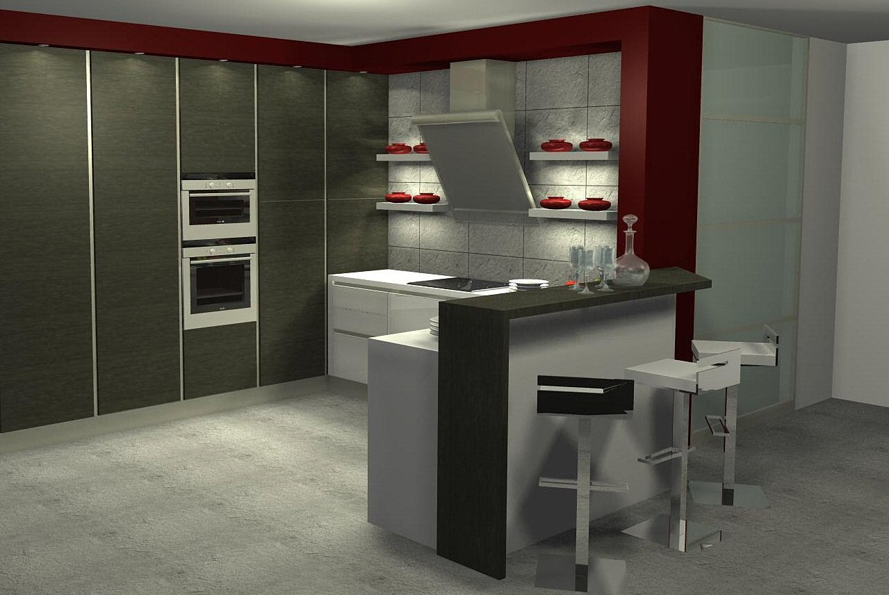 menuis art cuisine moderne cuisine design dressing vichy cuisine moderne design. Black Bedroom Furniture Sets. Home Design Ideas