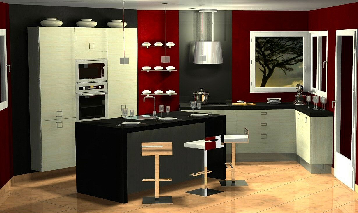 menuis-art cuisine moderne, cuisine design dressing Vichy ...