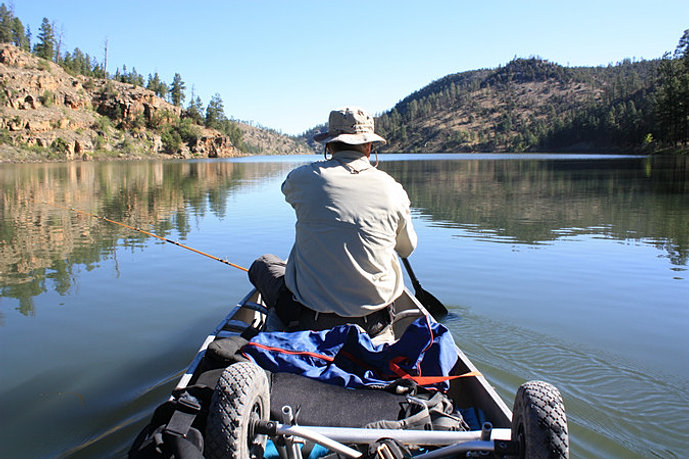 Town of payson rim country lakes for Canyon lake fishing spots