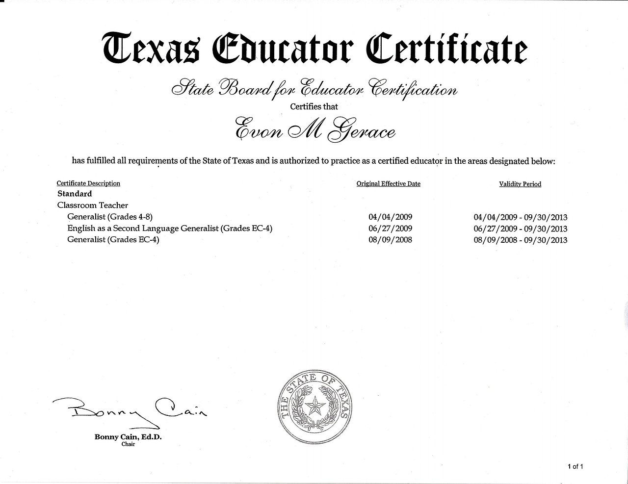 Wix evon gerace masters created by emgerace based on long left texas teaching license xflitez Images