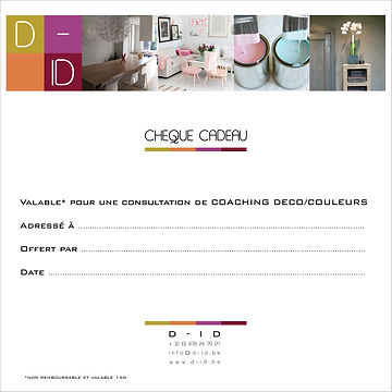 Chèque cadeau coacging déco D-ID