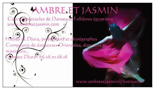 Carte De Visite Ambre Et Jasmin