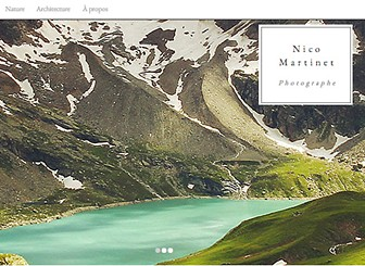 Photographe Faune Template - Set your art up for success with this minimalist template. Understated colors, elegant fonts, and creative gallery setups will allow your work to speak for itself. Be bold, be creative, be great – upload your photos and get online today!
