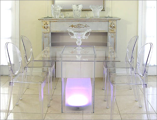 Lucite Light Up Table
