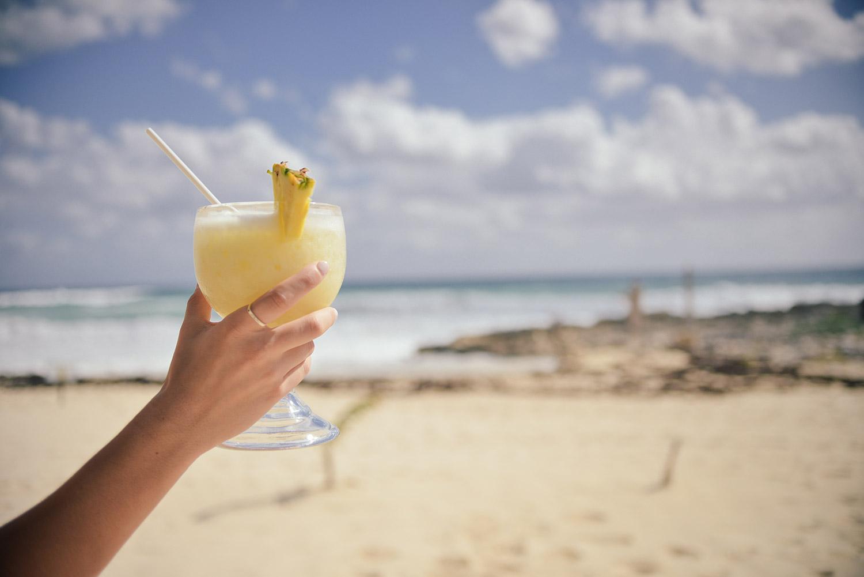 cocktail, strand, tropisch