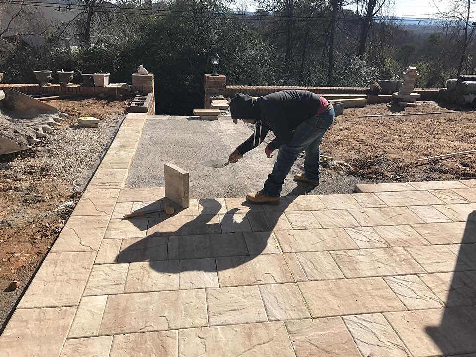 Building Contractor | Commercial Contractors | ETS Restorations | Stone  Patio Being Installed.