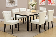 PDX2296 Genuine Marble 7pc Dining