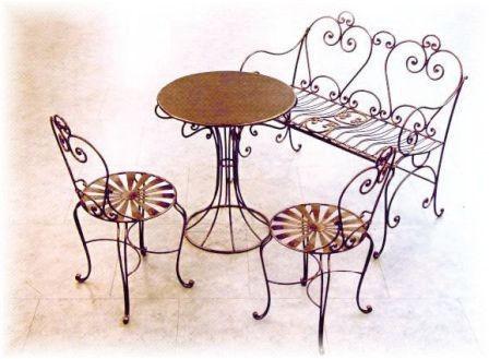 Marmol granito travertino muebles rusticos en tijuana y for Sillas para jardin de herreria