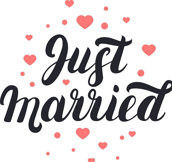 just-married-hand-lettering-with-hearts-